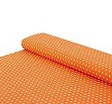 Nadeltraum Baumwoll - Jersey Stoff Sterne orange -
