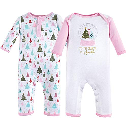 Hudson Baby baby girls Cotton Coverall, Sparkle Trees, 3-6 Months US