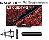 LG OLED77C9PUB 77 inch Class 4K Smart OLED TV w/AI ThinQ Bundle w/Sonos Beam Soundbar w/Flat Mount w/HDMI Cable - LG Authorized Dealer