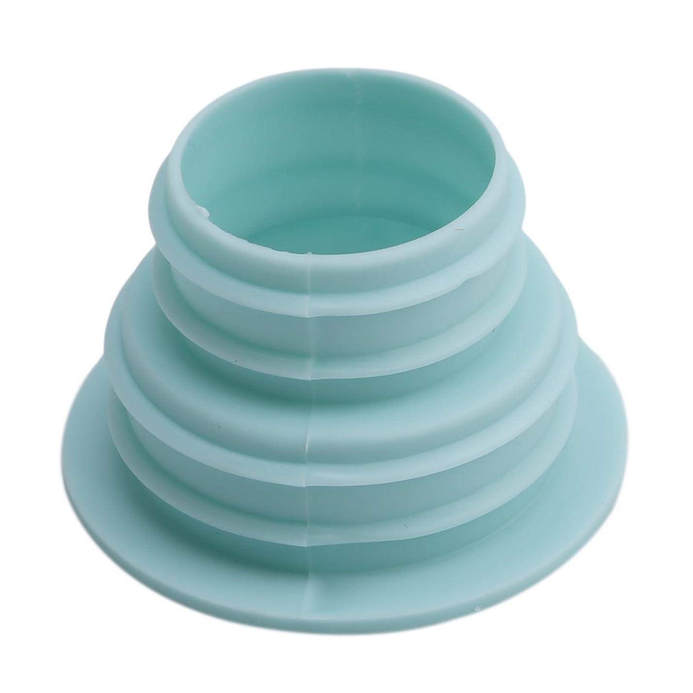 階借りる歯科のBEE&BLUE 洗濯機ホース用の排水口取り付けパーツ (ライトブルー)