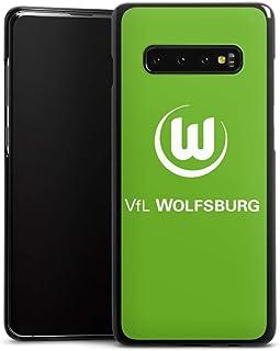 DeinDesign Hard Case kompatibel mit Samsung Galaxy S10 Plus Schutzhülle schwarz Smartphone Backcover VFL Wolfsburg Wappen Offizielles Lizenzprodukt
