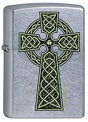 Zippo Celtic Irish Green Knot Cross Chrome Lighter