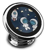 かわいい宇宙飛行士宇宙空間 車載ホルダー ユニバーサル 磁気 携帯電話 カーブラケット 取付け簡単 分解が簡単 大きなディスク 大きな吸引力