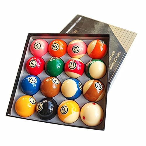 HSBAIS Juego de Bola de 2-1/4 Pulgadas Bolas de Billar/Piscina para Mesa de Billar Regular, Billiard Set Resina Pura Pool Table Balls en tamaño de regulación,57.2mm