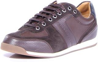 BOSS Hugo Maze Sneaker Shoes For Men  Dark Brown - 45 EU