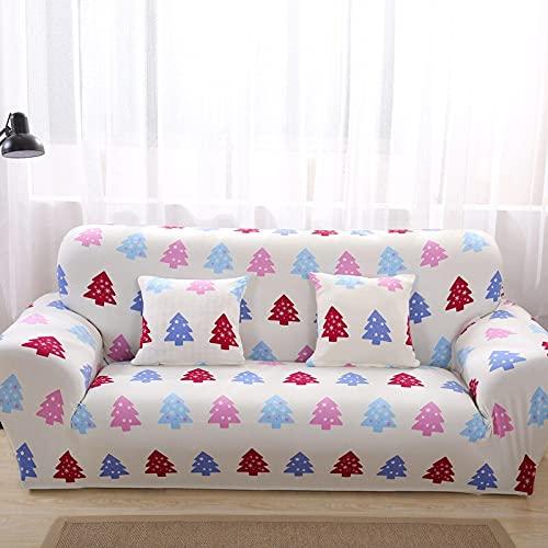Sofá de Sala de Estar Funda de sofá elástica Funda de sofá con Estampado geométrico Funda de sofá 1/2/3/4 Asiento Sofá de Esquina Funda de algodón A14 4 plazas