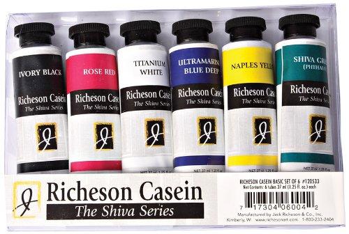 Jack Richeson 120533 37-Ml Artist Casein Colors, Set of 6
