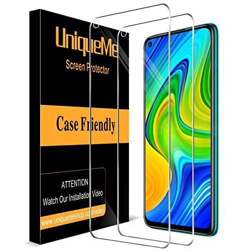 UniqueMe [2 Pezzi] Vetro Temperato per Xiaomi Redmi Note 9, Pellicola Protettiva per Xiaomi Redmi Note 9 9H Ultra Resistente [Bubble-Free]