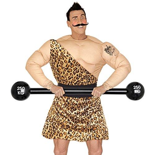 NET TOYS Aufblasbare Langhantel Bodybuilder Hantel aufblasbar 120 cm Gewichtheber Clown Kostüm Zubehör Zirkus Requisite Mottoparty Gag