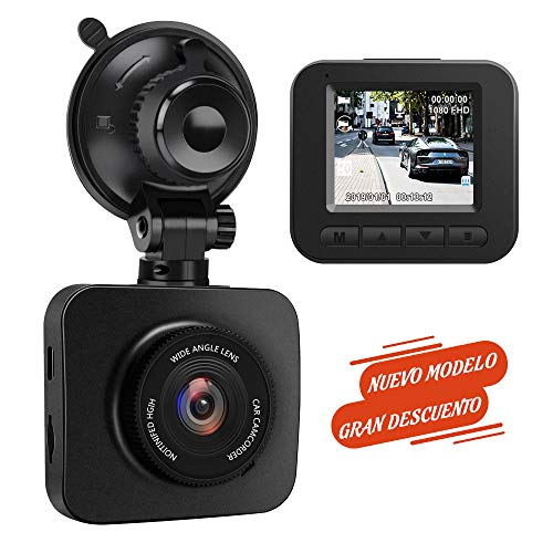 AWESAFE Cámara de Coche Dash CAM 1080P Full HD 170 Ángulo con WDR G-Sensor,...