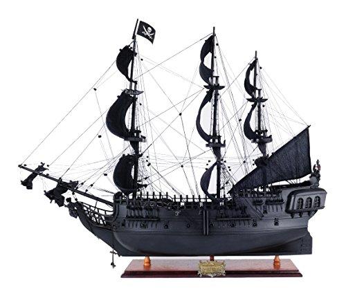 Old Modern Handicrafts Black Pearl Pirate Ship Wood Model