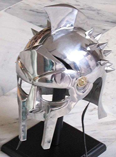 ANTIQUENAUTICAS Maximus Gladiator Helm Medieval RÖMISCH GRIECHISCHE Spartan Armour Film Replica KOSTÜM