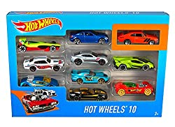 Hot Wheels Basic vehicles are favourites of collectors, car enthusiasts and racing fans of all ages 1:64 scale with realistic details and authentic decos The 10 pack assortment includes a variety of vehicles Makes a gift for kids and collectors of al...