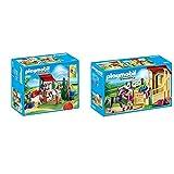 Playmobil Country Playset De Limpieza para Caballos, Multicolor (6929) + Country Caballo Árabe con Establo, Caballo Negro Y Detalles Morados, A Partir De 5 Años (6934)