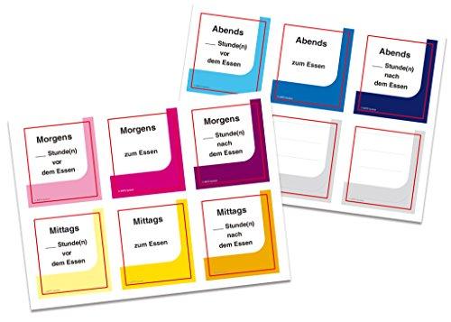 Han etiketten voor mediTimer 7001 – 12 zelfklevende etiketten elk voor een innametijd om te beschrijven voor de uitbreiding van de ontvangsttijden