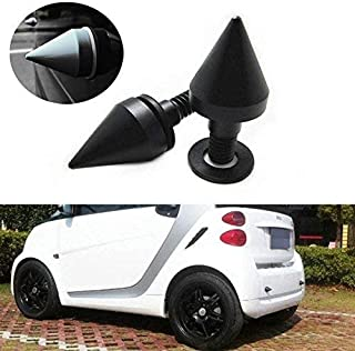iJDMTOY (2 Satin Black Finish Front or Rear Bumper Protector Spikes Guards for Smart Fortwo