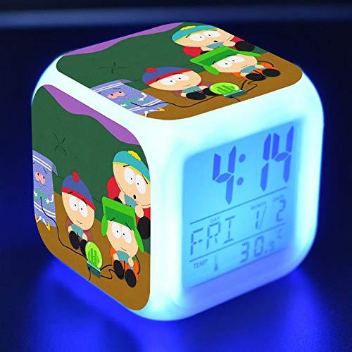 shiyueNB kinderwekker LED-licht 7 kleurverandering LCD-scherm