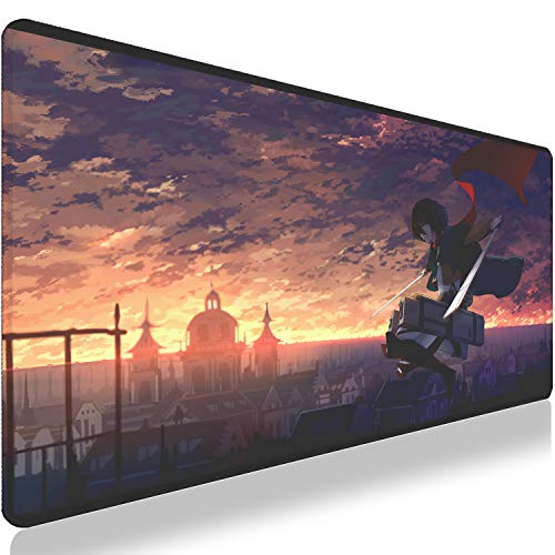 NBPRO Extra Große Gaming Mouse Pad Anime Gamer Computer Mousepad Anti-slip Natürliche Gummi Gaming Maus Matte xl xxl 900X400X3MM For Attack On Titan-5