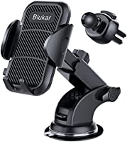 Blukar Car Phone Holder, Universal Car Phone Mount Cradle - 3 in 1 Super Stable for Car Dashboard/Windscreen/Air Vent -...