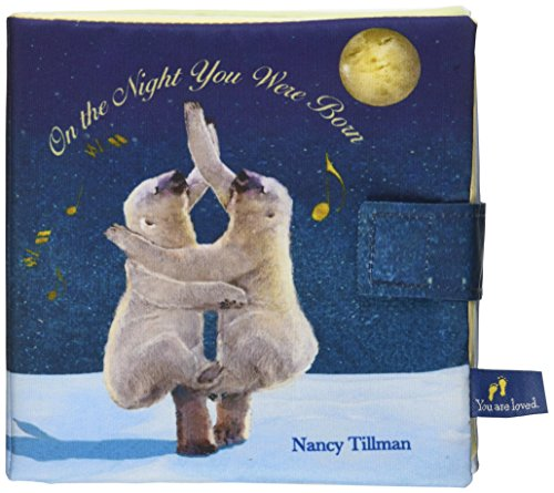 Price comparison product image DEMDACO On The Night You Were Born Dancing Bears Frosted Blue Children's Plush Soft Book Toy