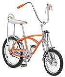 Schwinn Classic Old School Krate Bike, Ape Handlebar and Bucket Saddle, 20-Inch Wheels, Orange