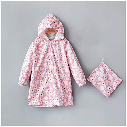 Guyuan Poncho Hibou bébé Fille imperméable garçon Fille Imprimer (Color : Pink, Size : L)