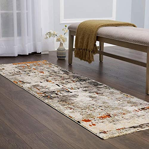 Home Ranking TOP18 Indefinitely Dynamix Signature Hampson Area Rug 2'x7' Rust Runner Gray
