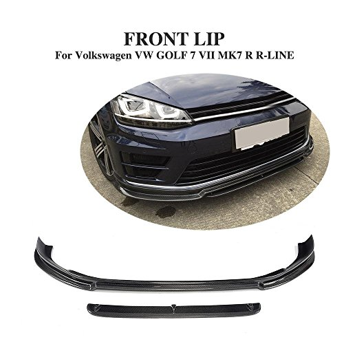 de fibra de carbono delantero Chin Spoiler para Golf 7 MK7 R R-Line 2014 - 2017