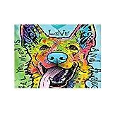 JHIN Colorido del Tapiz Colgante Lindo del Modelo del Perro para la decoración casera - Mantel de la Tabla de la Playa de la Comida campestre