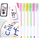 3D Gel Pens, Glossy Jelly Ink Pen Set, DIY Highlighters Gel Pens for Adult & Kids Coloring, Waterproof & Fade-proof Colorful Ballpoint Pens for Writing Painting Journaling Taking Notes 6PCS