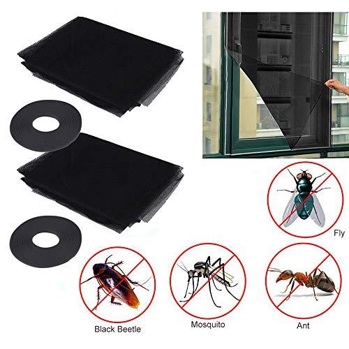 2er Pack verstellbarer magnetischer Fenstergitter, Fliegenfenstergitter Mesh Insect Netting, Anti Mosquito Bug Insect Window Screen