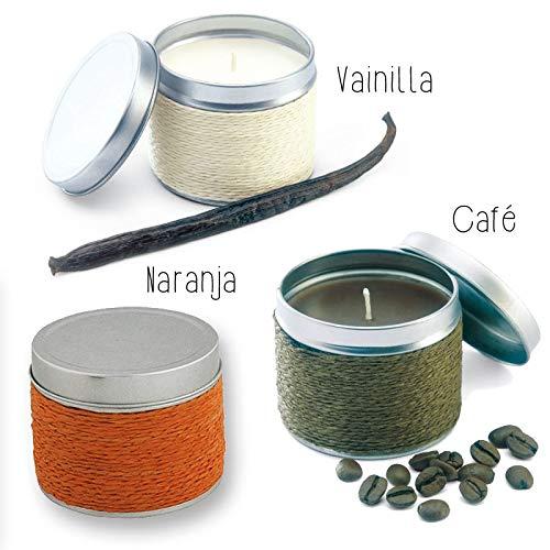 Lote de 18 Velas Fragancia Naranja, Café y Vainilla. - Velas para Bautizos Detalles y Recuerdos