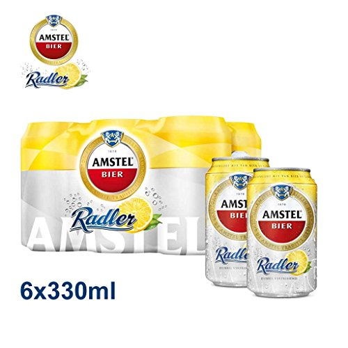 Amstel Radler 6x 330ml Alc. 2% Vol. - der erfrischende Zitronenradler
