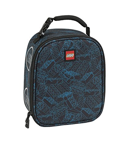 LEGO Kids Blue Print Lunch Backpack, Black, One Size
