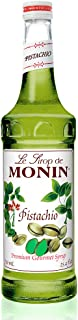 Monin - Pistachio Syrup, Rich and Roasted Pistachio Flavor, Great for Lattes, Mochas, and Dessert Cocktails, Vegan, Non-GMO, Gluten-Free (750 Milliliters)