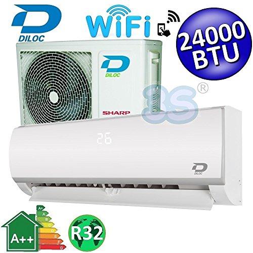 Climatizzatore inverter mono split FROZEN R32 24000 Btu DILOC classe A++/A+ funzione smart WIFI