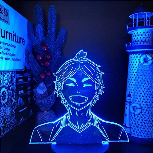 3D Night Lamp Haikyuu Kawaii SUGAWARA Illusion Led Nightlights Anime LAMP Color Changing Lampara for Home Decor-Fernbedienung