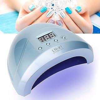 Qiter Secador de Esmalte de uñas, 52W Lámpara de Arte de manicura Profesional Esmalte de Gel de uñas Secado rápido Luz LED 100-240V(#06)