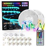 Tiras LED 10M, CNSUNWAY Luces LED RGB 5050 con Control Remoto de 44 Botones, Tira LED 20 Colores 8 Modos de Brillo y 6...