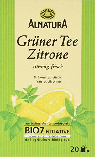 Alnatura Bio Grüntee Zitrone, 20 Beutel, 6er Pack (6 x 40 g)