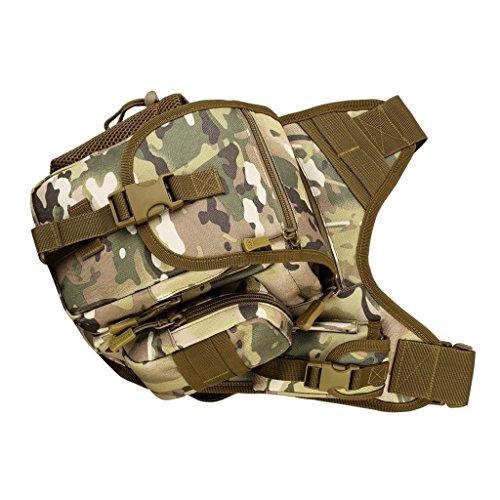 MagiDeal Taktische Militärische Umhängetasche Kamera Tasche Sling Bag Crossbody Bag Herren Schultertaschen - CP Camo