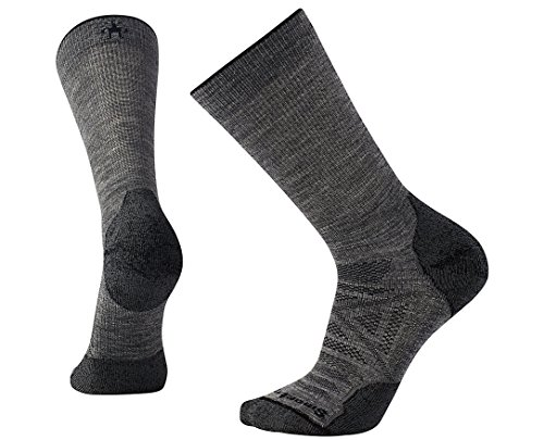 Smartwool PhD Outdoor Light Crew Socks, X-Large, Medium Gray