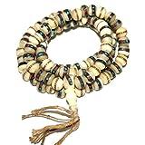 ビーズ 108の珠の数珠 ヨガ行者マラ チベット ヤクの骨 ヨガ マーラー数珠