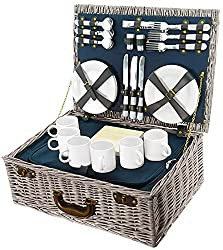 Picnic basket for 6 people with all picnic accessories