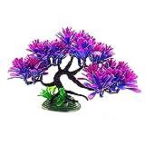 GKYI Plantas artificiales de acuario de simulación de banyan árbol de paisaje acuático resina decoración para acuario pecera bonsai ornamento