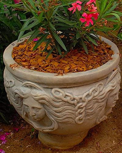 Casa Padrino Jugendstil Blumentopf Grau Ø 56 x H. 47 cm - Runder Pflanzentopf - Barock & Jugendstil Garten & Terrassen Deko