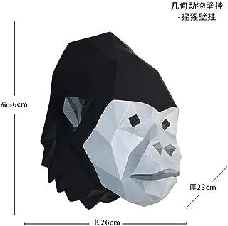 Estatua Sculpture Cabeza De Animal De Origami Creativo para Colgar En La Pared Orangután Estatua Unión Figurine Resin Ilustraciones para El Salón Mesa Accesorios De Navidad Adorno