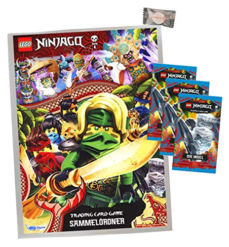 Lego Ninjago Karten Trading Cards Serie 6 - Die Insel (2021) - 1 Sammelmappe + 3 Booster + stickermarkt24de Gum