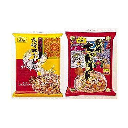 (東洋軒)長崎ちゃんぽん&長崎皿うどんセット 12食【代引不可】 ds-1653728