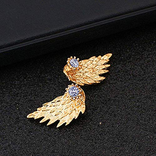 Sieraden Voor VrouwenZinklegering Metalen Nageloorring Dames Engelenvleugels Oorbellen Bergkristal Ingelegd Legering Oor Sieraden Feest Oorbele065jinse